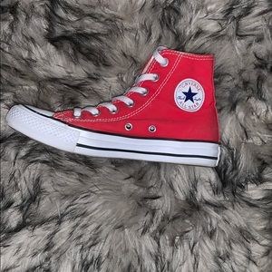 Red Converse Classic Chuck Taylor High tops